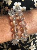Armband van heldere bergkristallen_