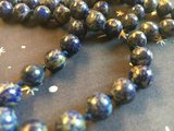 Geknoopte ketting met ronde lapis lazuli kralen _