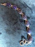 Mooie zilveren armband met prachtige ovalen lapis lazuli stenen_