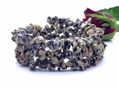 Armband van dalmatier jaspis splitkralen