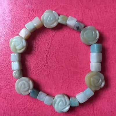 Armband van amazoniet met zes roosjes
