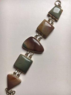 Armband van zilver en mookaiet