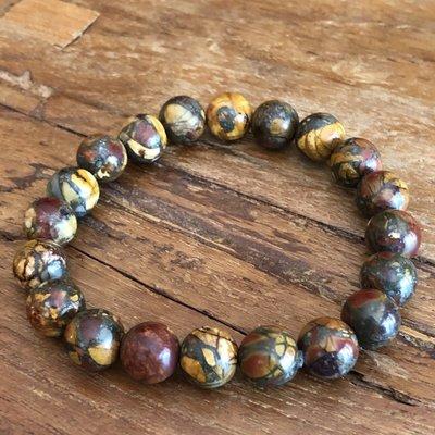 Armband met warme kleuren van picasso jaspis