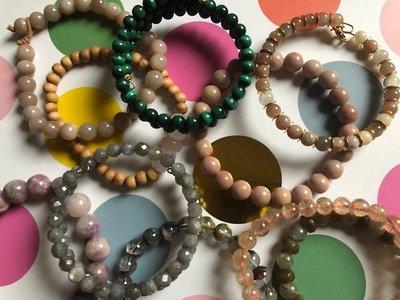 Op jou afgestemde armband van edelsteen/edelstenen
