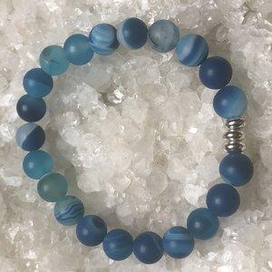 Armband van blauwe agaat