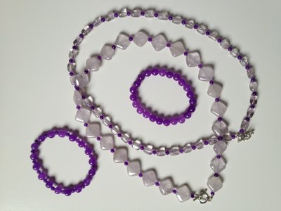 Armband van ronde amethisten